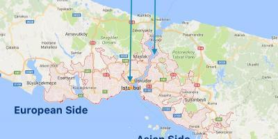 اسطنبول القسطنطينية خريطة خرائط Istanbul إسطنبول تركيا